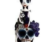 Custom Art Doll -Day of the Dead Doll - Dia de los muertos - Art Doll - Mexican Folkart