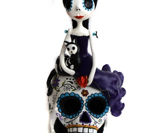 Custom Art Doll -Day of the Dead Doll - Dia de los muertos - Art Doll - Mexican Folkart - Made To Order