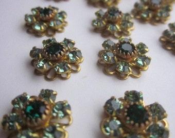 Delightful, Delicious, De-lovely Vintage Swarovski Emerald Crystal Flowers