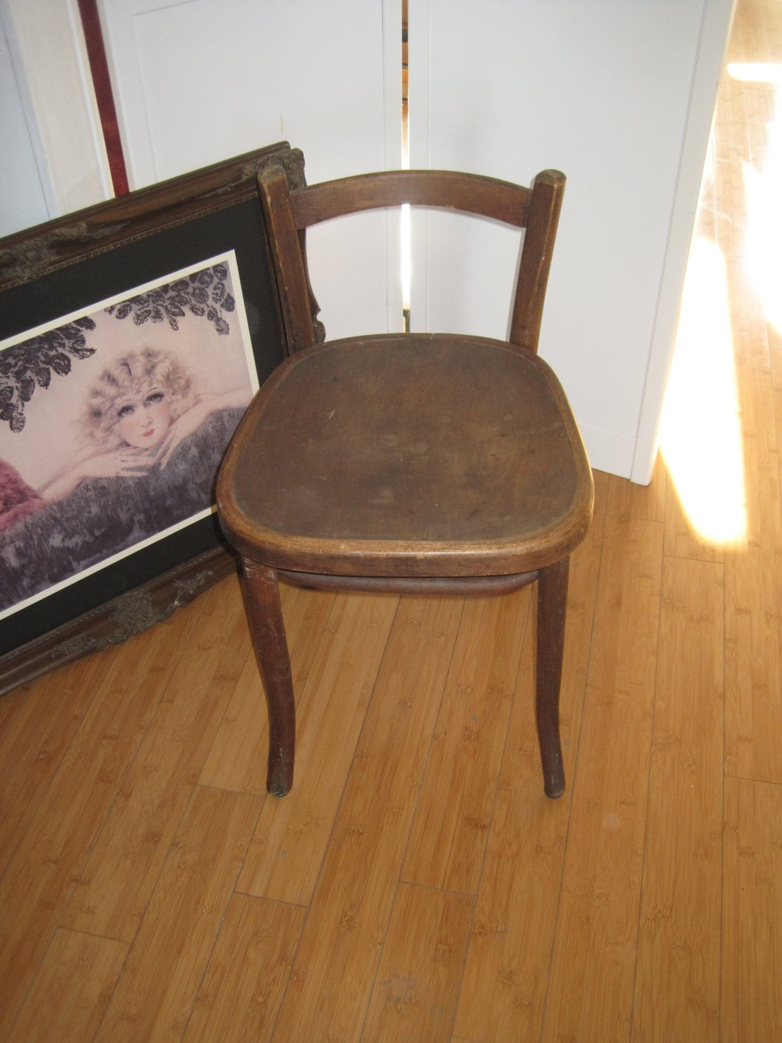 Antique Bentwood Low Back Vanity Chair Michael Thonet