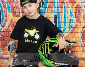 Personalized Dirt Bike Tattoo Sleeve Shirt
