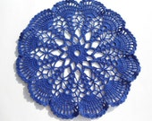 Crochet doilies ,blue doily ,  round , small doilies ,   8 inches