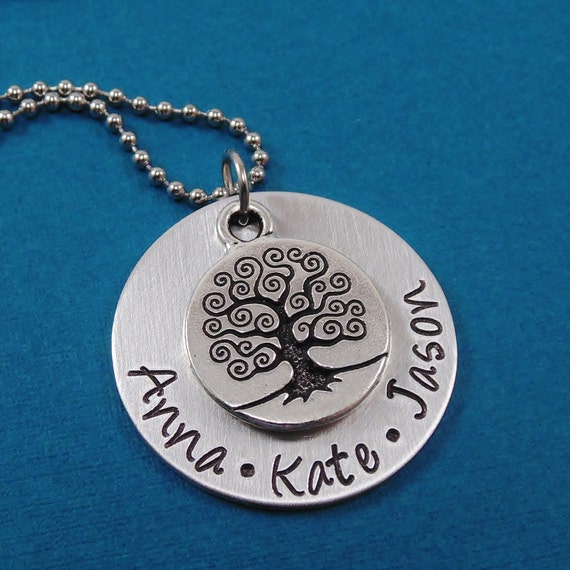 Hand stamped jewelry personalized necklace by heartfelttokens for How do you make hand stamped jewelry