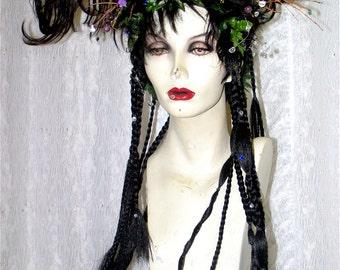 EXAMPLEs of custom made Wig Hair Headpiece Costume Faerie world Renaissance Fairy Wedding Steampunk theater Male - Female -- Custom Orders