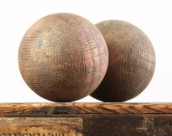 A Pair of Vintage French Petanque or Boules - Longue Balls