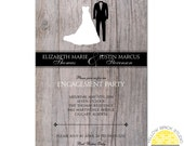 engagement party invitation - bride and groom - DIY printable file by YellowBrickStudio