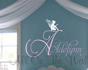 Fairy Wall Decal Name Decals Girls Bedroom Decor Nursery Decals Toddler Bedroom Stars Vinyl Lettering Vinyl Decals Wall Stickers For Kids