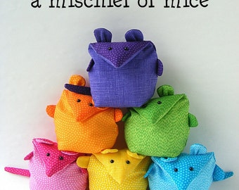 Mischief of Mice - mouse softie pattern, digital PDF pattern