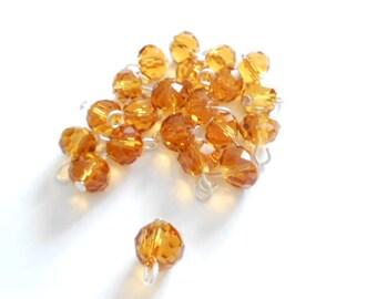 Topaz Rondelle Dangle Beads
