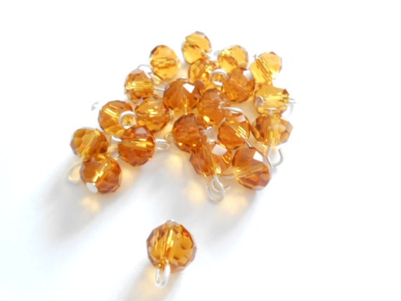Topaz Faceted Rondelle Dangle Beads From