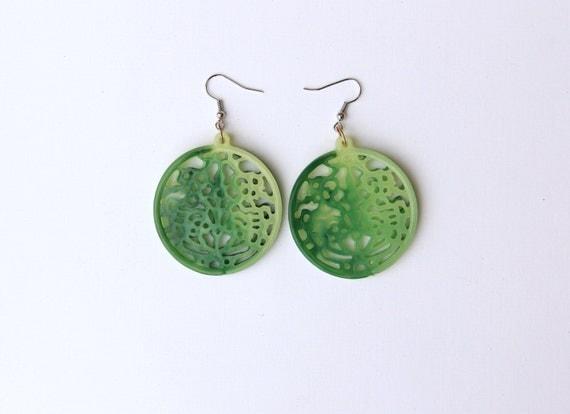 Chunky Asian Jade Earrings - LAST SET