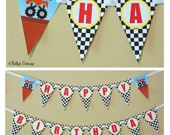 Monster Truck Birthday Banner, Instant Download, Printable, Digital