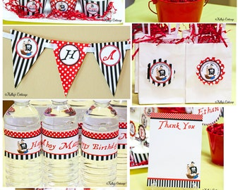Pirate Birthday Party Ready To Go Package Printable DIY Package