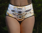 Best Selling Breathable Fabric High Waisted Panties May Bug Insect Print Vintage Look Hot Granny