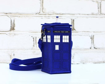 Tardis Bag Small Police Booth Bag Felt Purse