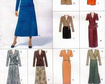 Vogue Easy Options Pattern 2074 Misses Very Easy Top & Skirt 14-18 UNCUT