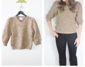 Sweet Like Sandy Vintage 3/4 Sleeve Sweater