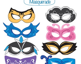 Masquerade Printable Masks, masquerade mask, printable masquerade mask, masquerade costume, party masks, masquerade, halloween costume