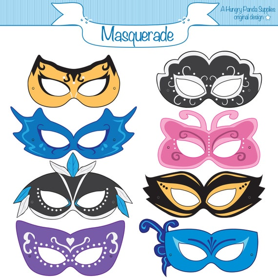 Masquerade Printable Masks Masquerade Mask Printable