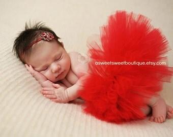 Red Tutu Red Baby Tutu Red Newborn Tutu Sweet And Simple Tutu Set Newborn Tutu Set Vintage Gem Tutu Set Baby Tutu Set