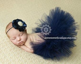 Navy Newborn Tutu Sweet Grace Navy Blue Couture Tutu With Matching Headband Stunning Unique Newborn Photo Prop