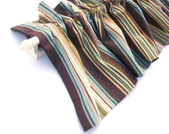 CLEARANCE - was 28 CANYON Valance Curtains Green Brown Stripes  54 inches wide