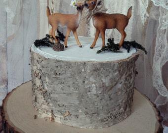 Deer Hunter Bride Groom Wedding Cake Topper Camouflage Country