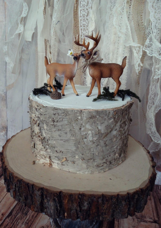 deer hunter bride groom wedding cake