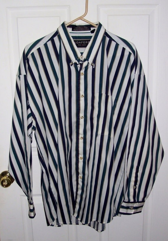 Vintage men 39 s striped shirt by reed st james extra large for St james striped shirt