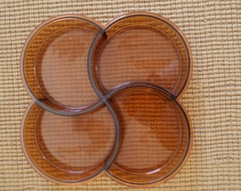 Amber Dansk LUCITE/4 SECTIONS/TRAY/Mid Century/Plastic Tray