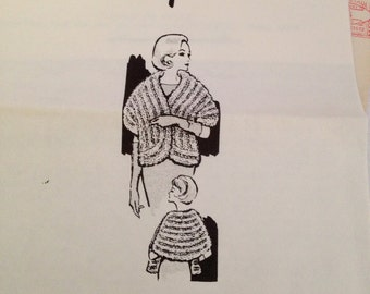 Vintage Mary Cullen's Cottage Knitted Stole Pattern # 7411