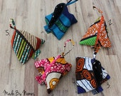 African Print zipper pyramid pouch. Choice of different fabrics. iPod, earphones, coins, jewellery holder