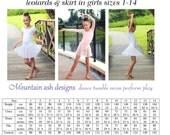 Ballet leotard pattern ballet skirt pdf sewing pattern Ballet Basics 2 ebook tutorial girls sizes 1-14
