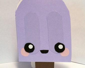 Handmade Kawaii Popsicle Card- Cardstock