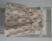 Baby girl cotton dress size 3-6 months 62 centilong blush bird cage print