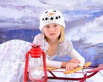 Snowman Hat, snowman photo prop, baby snowman hat, newborn photography prop, snowman photo prop, build a snowman hat