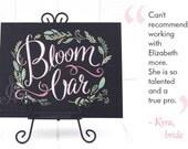 "Bloom Bar drawing, 11""x14"" art board, custom drawing by hand"