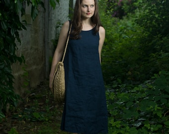 Linen Sleeveless Dress