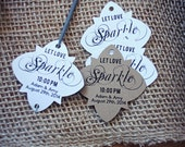Let Love Sparkle Wedding Favour Tag Favor Sparkler Favour Tag for Sparklers with Personalized Custom Colour Options Size Small