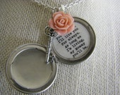 I'll Love You Forever I'll Like You For Always Mommy Silver Locket Key Pink Rose Silver Locket Necklace Mother's Day For Mom Of Bride Gift