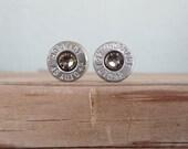 Bullet Earrings- 45 Auto Grey/Greige