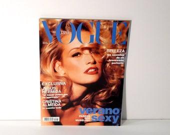 Vogue Espana Spanish Fashion Magazine 1993 Vintage Vogue Spain Nudity Mature Fashion Magazine 1990s Marguerite McBey Andie McDowell Cats