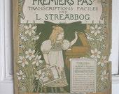 4 Vintage French music Prints // ORIGINAL Color Lithograph // Large prints