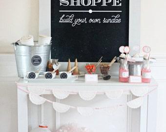 PRINTABLE CHALKBOARD ART - Ice Cream Shoppe Digital  - Mirabelle Creations