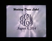 White Satin Wedding Dress Label Heirloom Keepsake