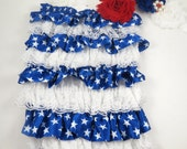 Red White and Blue Romper and Headband - 4th of July Romper - 4th of July Headband - 4th of July Set - Baby Child  Bodysuit and Headband