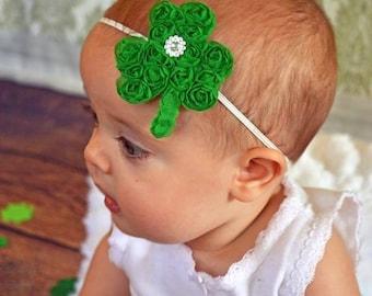 St Patricks Day Headband - Green Shamrock Headband -  Shamrock Hair Clip - St. Patrick's Day - Headband - Toddler Teenager Adult Headband