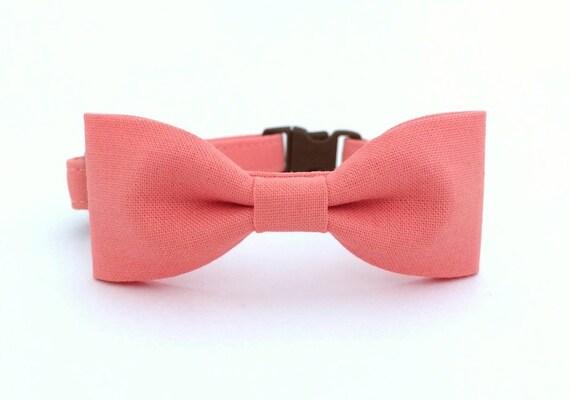 articles similaires collier de chien rose saumon chat noeud papillon sur etsy