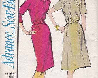 1960s Classic Shirt Waist Dress Pattern Advance 3371 Size 12 Uncut