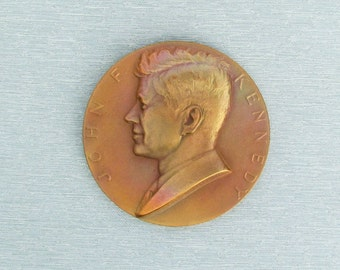 Vintage John F. Kennedy medal made by the U.S. Mint, presidential medal
